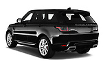 Car pictures of rear three quarter view of a 2018 Land Rover Range Rover Sport HSE Dynamic 5 Door SUV angular rear