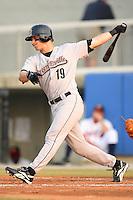 Greeneville Astros right fielder Brandon Barnes follows through on his swing versus the Danville Braves at American Legion Field in Danville, VA, Saturday, July 1, 2006.