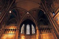 Europe/Italie/Ombrie/Assise : Basilique Saint-François - Voutes de l'église supérieure