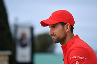 11th April 2021; Roquebrune-Cap-Martin, France;  Novak Djokovic Ser during practise sessions for the  Rolex Monte Carlo Masters