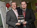 16/11/2010   Copyright  Pic : James Stewart.026_kitchen_opening  .::  SERCO ::  FORTH VALLEY ROYAL HOSPITAL RESTAURANT GRAND OPENING :: CELEBRITY CHEF NICK NAIRN PRESENTS FORTH VALLEY COLLEGE HOSPITALITY STUDENT MICHAEL VAN VUURE WITH A SIGNED COPY OF HIS NEW BOOK AT THE OFFICIAL OPENING OF THE NEW FORTH VALLEY ROYAL HOSPITAL KITCHEN ::