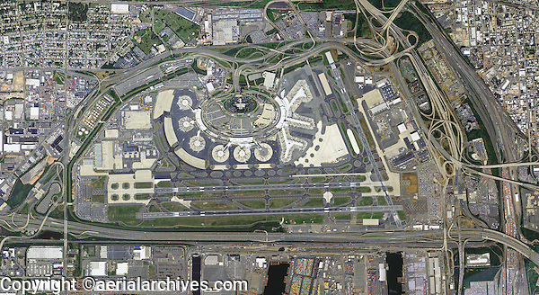 aerial photo map of Newark International Airport ERW New Jersey