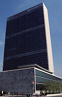 File Photo , New York , (NY) USA<br /> United Nations Headquarters in New York City<br /> Siège des Nations Unies à New York, USA<br /> (c) by Pierre Roussel / IMAGES DISTRIBUTION