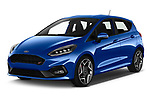 2018 Ford fiesta st Ultimate 5 Door Hatchback angular front stock photos of front three quarter view