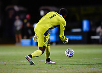 LAKE BUENA VISTA, FL - JULY 26: Sean Johnson of New York City FC rolls the ball during a game between New York City FC and Toronto FC at ESPN Wide World of Sports on July 26, 2020 in Lake Buena Vista, Florida.