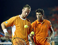 20030920, Zwolle, Davis Cup, NL-India, Dutch team van lottum and Verkerk(l)