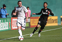 Washington, D.C. - Saturday, April 9, 2016: D.C. United defeated the Vancouver Whitecaps 4-0 in a MLS match at RFK Stadium.