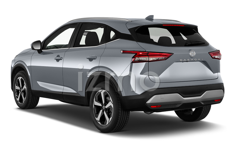 Car pictures of rear three quarter view of 2022 Nissan Qashqai N-Connecta 5 Door SUV Angular Rear