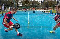 Netherlands, September 6,  2020, Amsterdam, Padel Dam, NK Padel, National Padel Championships, men's semifinal, Sten Richters (NED) and Robin Sietsma (NED) (R)<br /> Photo: Henk Koster/tennisimages.com