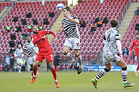 Jordan Moore-Taylor of Forest Green Rovers and Jobi McAnuff of Leyton Orient during Leyton Orient vs Forest Green Rovers, Sky Bet EFL League 2 Football at The Breyer Group Stadium on 23rd January 2021