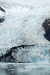 Alaska, Prince William Sound, Cascade Glacier, Harriman Fjord, tidewater glacier,.