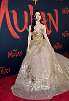 """LOS ANGELES, CA: 09, 2020: Yifei Liu at the world premiere of Disney's """"Mulan"""" at the El Capitan Theatre.<br /> Picture: Paul Smith/Featureflash"""