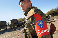 - Eurocorps, European multinational army corps, German soldier on watch....- Eurocorps, corpo militare multinazionale europeo,..soldato tedesco di guardia..