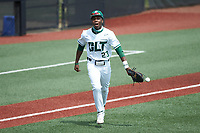 LuJames Groover III (23) of the Charlotte 49ers reacts after maing a play on defense during the game against the UTSA Roadrunners at Hayes Stadium on April 18, 2021 in Charlotte, North Carolina. (Brian Westerholt/Four Seam Images)