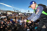 #39 Carbahn Motorsports Audi R8, GS: Tyler McQuarrie, Champagne