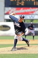 May 2, 2010: Pitcher Adam Olbrychowski of the Tampa Yankees delivers a pitch during a game at George M Steinbrenner Field in Tampa, FL. Tampa is the Florida State League High Class-A affiliate of the New York Yankees. Photo By Mark LoMoglio/Four Seam Images