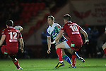 Connacht outside half Dan Parks moves the ball out to his backs..Scarlets v Connacht.Parc y Scarlets.Rabo Pro12.08.02.13.©Steve Pope-SPORTINGWALES