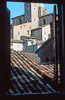 Urbino:  View from hotel window.  Photo '83.