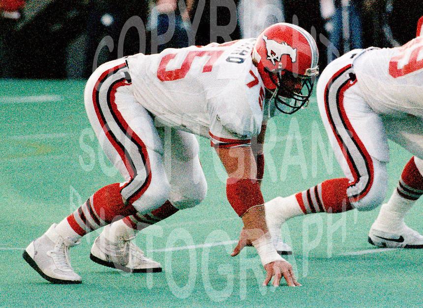 Stu Laird Calgary Stampeders 1986. Photo F. Scott Grant