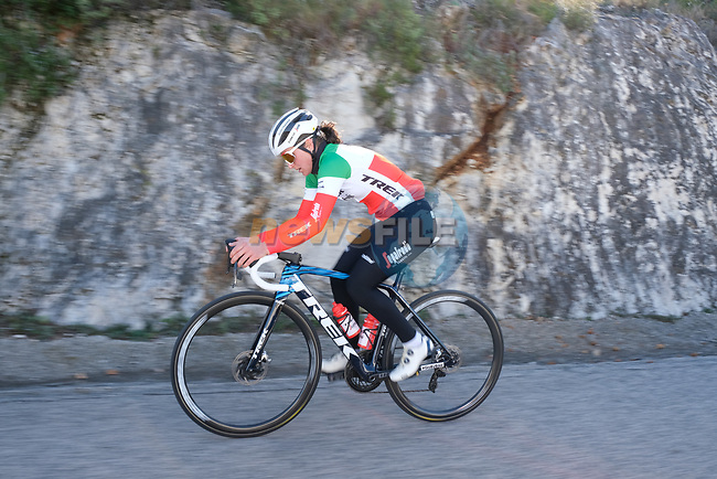 Italian Champion Elisa Longo Borghini (ITA) Trek–Segafredo 2021 mens and womens team during their winter training camp. 18th January 2021.<br /> Picture: Trek Factory Racing | Cyclefile<br /> <br /> All photos usage must carry mandatory copyright credit (© Cyclefile | Trek Factory Racing)