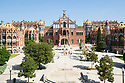 Spain - Barcelona - The former Hospital de la Santa Creu i Sant Pau (Hospital of the Holy Cross and Saint Paul) is a complex built between 1901 and 1930, designed by the Catalan modernisme architect Lluís Domènech i Montaner. Together with Palau de la Música Catalana, it is a UNESCO World Heritage Site.<br /> <br /> It was a fully functioning hospital until June 2009, when the new hospital opened next to it, before undergoing restoration for use as a museum and cultural center, which opened in 2014.