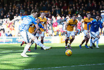Motherwell v St Johnstone….30.03.19   Fir Park   SPFL<br />Liam Craig takes his penalty which is saved<br />Picture by Graeme Hart. <br />Copyright Perthshire Picture Agency<br />Tel: 01738 623350  Mobile: 07990 594431
