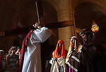 Re-enactors walk the Stages of the Cross on Easter Sunday at Old Havana Cathedral.
