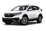 Stock pictures of low aggressive front three quarter view of 2020 Honda CR-V Touring 5 Door SUV Low Aggressive
