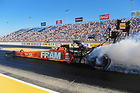 Jul, 8, 2011; Joliet, IL, USA: NHRA top fuel dragster driver Spencer Massey during qualifying for the Route 66 Nationals at Route 66 Raceway. Mandatory Credit: Mark J. Rebilas-