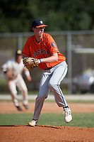 Patrick Dunn (56) during the WWBA World Championship at the Roger Dean Complex on October 13, 2019 in Jupiter, Florida.  Patrick Dunn attends Flower Mound High School in Flower Mound, TX and is committed to Houston.  (Mike Janes/Four Seam Images)