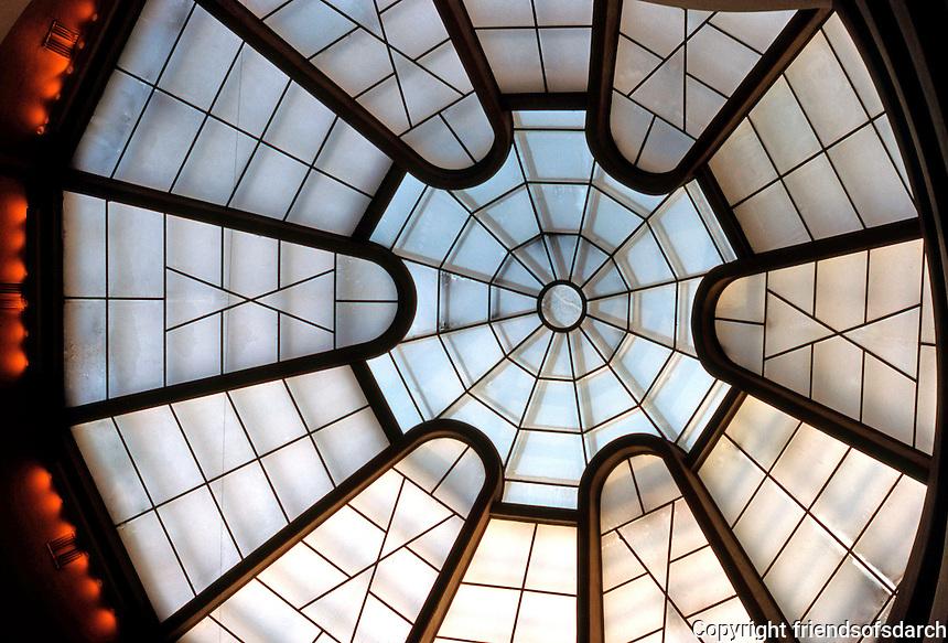 F.L. Wright: Guggenheim, Glass Roof.  Photo '78.