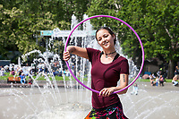 Jaalah Kuhn, Hula Hooping at Northwest Folklife Festival, Seattle, WA, USA.