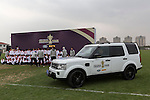 The Webb Ellis Cup is pictured as part of the Rugby World Cup Trophy Tour, delivered in partnership with Land Rover and DHL ahead of Rugby World Cup 2015 on December 11, 2014 in Shanghai, China. Photo by Jerome Favre / Power Sport Images