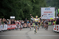 sprint victory for Moreno Hofland (NLD/LottoNL-Jumbo)<br /> <br /> stage 4: Hotel Verviers - La Gileppe (187km)<br /> 29th Ster ZLM Tour 2015