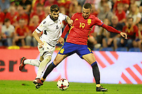 Spain's Rodrigo Moreno (r) and Albania's Elseid Hysaj during FIFA World Cup 2018 Qualifying Round match. October 6,2017.(ALTERPHOTOS/Acero) /NortePhoto.com /NortePhoto.com