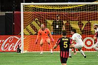 ATLANTA, GA - SEPTEMBER 02: Luis Robles #31 of Inter Miami CF guards his goal during a game between Inter Miami CF and Atlanta United FC at Mercedes-Benz Stadium on September 02, 2020 in Atlanta, Georgia.