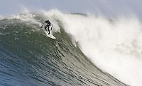 Greg Long. Mavericks Surf Contest in Half Moon Bay, California on February 13th, 2010.