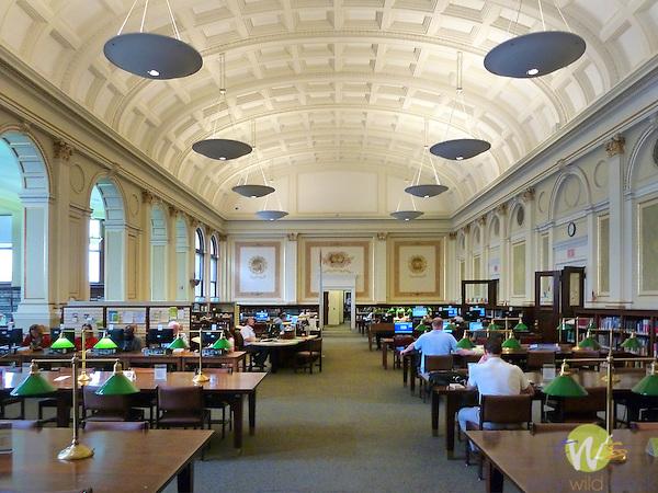 Carnegie Mellon Institute. Library reading room.