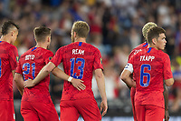 SAINT PAUL, MN - JUNE 18: USMNT players celebrate during a 2019 CONCACAF Gold Cup group D match between the United States and Guyana on June 18, 2019 at Allianz Field in Saint Paul, Minnesota.