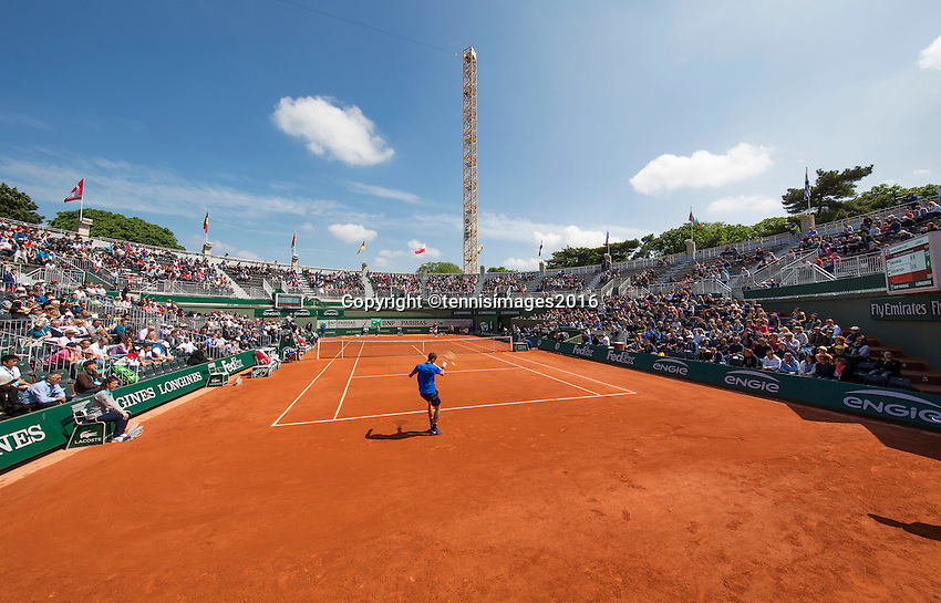 Paris, France, 25 June, 2016, Tennis, Roland Garros,  Interior of court nr. one.<br /> Photo: Henk Koster/tennisimages.com