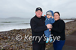 Enjoying a walk on the Prom in Waterville on Friday were Mark & Rian Flanagan with Ina Mackevic.