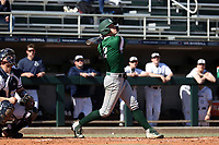 CARY, NC - FEBRUARY 23: Griffin Schneider #2 of Wagner College hits the ball during a game between Wagner and Penn State at Coleman Field at USA Baseball National Training Complex on February 23, 2020 in Cary, North Carolina.