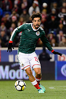 Harrison, NJ - Tuesday April 10, 2018: Rodolfo Pizarro during leg two of a  CONCACAF Champions League semi-final match between the New York Red Bulls and C. D. Guadalajara at Red Bull Arena. C. D. Guadalajara defeated the New York Red Bulls 0-0 (1-0 on aggregate).