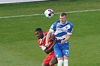 Tim Skarke (SV Darmstadt 98) im Kopfballduell mit Ridge Munsy (Wuerzburger Kickers)<br /> <br /> - 19.12.2020: Fussball 2. Bundesliga, Saison 20/21, Spieltag 13, SV Darmstadt 98 - Wuerzburger Kickers, Stadion am Boellenfalltor, emonline, emspor, <br /> <br /> Foto: Marc Schueler/Sportpics.de<br /> Nur für journalistische Zwecke. Only for editorial use. (DFL/DFB REGULATIONS PROHIBIT ANY USE OF PHOTOGRAPHS as IMAGE SEQUENCES and/or QUASI-VIDEO)