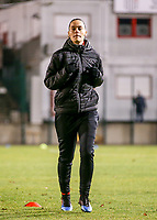 Lies Tambeur (15) of Woluwe warms up before a female soccer game between FC Femina White Star Woluwe and Club Brugge YLA on the eleventh matchday of the 2020 - 2021 season of Belgian Scooore Womens Super League , Friday 22 January 2021  in Woluwe , Belgium . PHOTO SPORTPIX.BE | SPP | SEVIL OKTEM