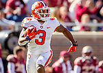 Clemson wide receiver Amari Rodgers runs after a reception in the second half of an NCAA college football game against Florida State in Tallahassee, Fla., Saturday, Oct.27, 2018. Clemson defeated Florida State 59-10. (AP Photo/Mark Wallheiser)