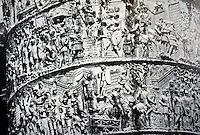 Italy: Rome--Trajan's Column, Detail showing Hadrian's Campaign in Dacia. The carved band, 3-4 ft. wide and 650 ft. in length.