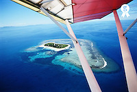 New Caledonia, Noumea, Lighthouse Island, view from microlite (Licence this image exclusively with Getty: http://www.gettyimages.com/detail/200339747-001 )