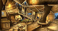Alexander Anderson's treehouse on the island of Atlantis.