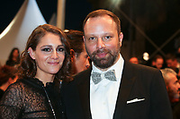ARIANE LABED AND DIRECTOR YORGOS LANTHIMOS - RED CARPET OF THE FILM 'THE KILLING OF A SACRED DEER' AT THE 70TH FESTIVAL OF CANNES 2017 . CANNES, FRANCE, 22/05/2017. # 70EME FESTIVAL DE CANNES - RED CARPET 'MISE A MORT DU CERF SACRE'